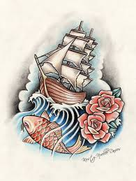 lighthouse rose and ship tattoo drawing photos pictures and