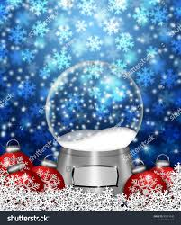 water snow globes blank snowflakes christmas stock illustration