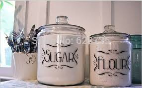 kitchen canister labels 4 pcs set jar canister vinyl tags sticker baking mix coffee 2