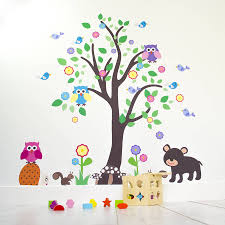 kids bedroom wall stickers childrens wall stickers with wow how kids bedroom woodland tree wall sticker by mirrorin