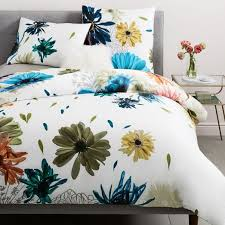 400 thread count organic sateen collage floral duvet cover shams