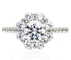 flower halo engagement ring a classic custom engagement ring by susie saltzman