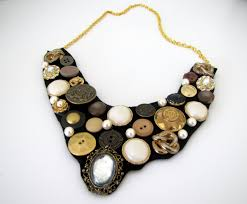 bib necklace images How to make a button bib necklace step by step tutorial craft JPG