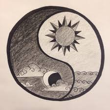 moon ying and yang pencil and in color moon ying and