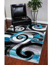 Black White Area Rug Spectacular Deal On Rugs Modern Trendz Abstract Turquoise