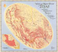 State Map Of New Mexico by My Favorite Map West And Trans Pecos Texas With Parts Of New