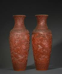 Cinnabar Vases Zhang Daqian Paintings Lead Fine Chinese Works Of Art And