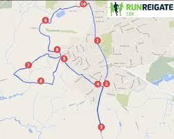Map My Route Running by Reigate U0027s Half Marathon And 10k Intersport Run Reigate