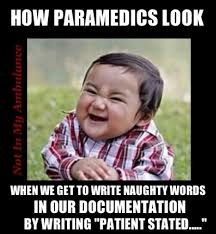 Evil Kid Meme - true not only for paramedics but for me as an ophthalmic technician
