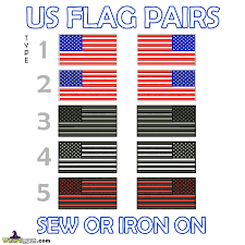 Us Military Flags Usa Military Flags Uniform 1 Pair U2013 Wizard Patch