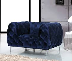 Navy Tufted Sofa by Mercer Navy Sofa 646 Meridian Furniture Fabric Sofas At Comfyco