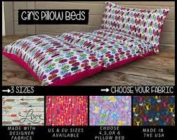 pillow beds for kids mattress cover bed etsy