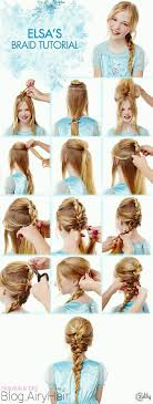 anna from frozen hairstyle step by step disney frozen elsa anna step hair tutorials