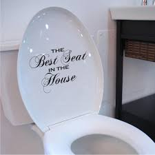 toilet seat decal best seat in the house wall art funny novelty toilet seat decal best seat in the house wall art funny novelty sticker bathroom