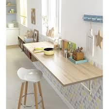 equerre plan de travail cuisine plan de travail stratifié effet chêne santana mat l 180 x p 60 cm