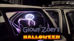 stick figure halloween costumes glowy zoey u0027s halloween in her led stickman costume youtube