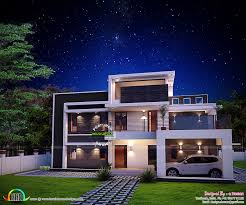 Home Design Architectural Plans by Sq Ft Awesome Contemporary Home Kerala Home Design Floor Plans Sq