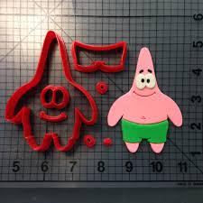 spongebob squarepants patrick cookie cutter set