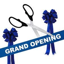 grand opening ribbon grand opening kit 36 black silver ceremonial