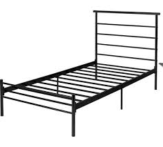 black metal frame single bed with mattress in hamble hampshire