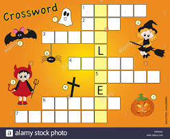 Halloween Crossword Puzzles Printable by Halloween Crossword Puzzle