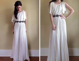 wedding dresses goddess style vintage 70 s goddess wedding dress by backbayouvintage