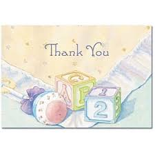baby shower thank you cards baby blocks baby shower thank you cards and envelopes