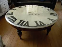vintage glass coffee table furniture clock coffee table design ideas brown and white round