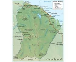France Political Map by Maps Of French Guiana Detailed Map Of French Guiana In English