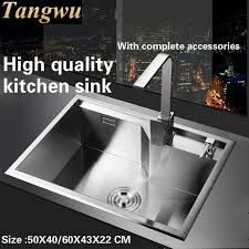 High Quality Kitchen Sinks Tangwu High Quality Food Grade 304 Stainless Steel Kitchen Sink