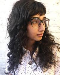 hairstyles for long straight hair with glasses 40 cute styles featuring curly hair with bangs