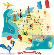 Marseilles France Map by Cartoon Map Of France Vector Art Getty Images