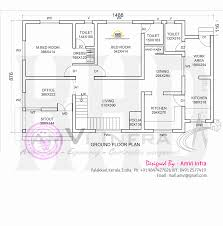 Kerala House Single Floor Plans With Elevations 4 Bedroom Ranch Floor Planscustom Ranch House Floor Plans Bedroom