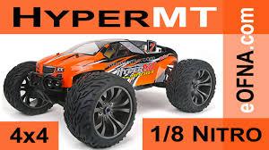 rc nitro monster truck ofna 1 8 hyper mt ready to run nitro r c monster truck youtube