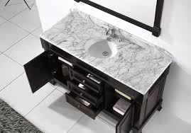 Black Bathroom Vanity With White Marble Top by Virtu Usa Gs 4060 Wmro Dw Huntshire 60 Inch Single Sink Bathroom