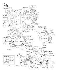 2013 kawasaki ninja 650 ex650eds footrests parts best oem