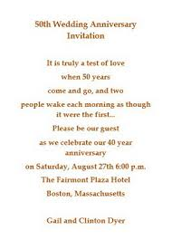 50th Wedding Anniversary Program Wedding Free Suggested Wording By Theme Geographics