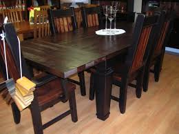 paul bunyan harvest table set rough sawn pine paul bunyan table