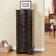 brown jewelry armoire brown jewelry armoire trading 7 drawer jewelry with flip top