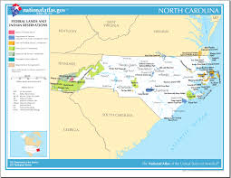 Camp Lejeune Map Map Of North Carolina Map Federal Lands And Indian Reservations