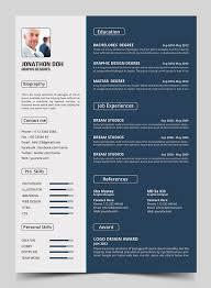 modern resume format elegant resume templates elegant resume template vector free