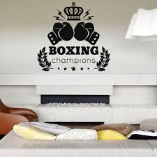 online get cheap wall sticker quotes fight aliexpress com wall vinyl sticker bedroom boxing championship quote sport fight nursery china