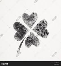 stenciled four leaf irish clover image u0026 photo bigstock