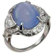 art deco cabochon sapphire diamond ring for sale at 1stdibs