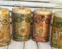 brown canister sets kitchen https www etsy market flour canister