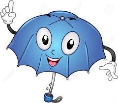 Clip Umbrella Mascot Illustration Of An Umbrella Stock Photo Picture And