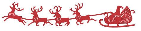 santa sleigh and reindeer cheery die santa s sleigh and reindeer