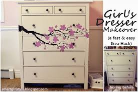 Ikea Hemnes Dresser Hack Smartgirlstyle Ikea Hack Hemnes With Cozy Wall Art Decal