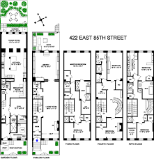 town house floor plans floor plans converted townhouse in greenwich village in new york