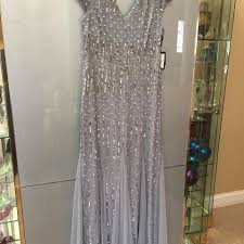 papell dress papell blue grey 091928980 m formal dress size